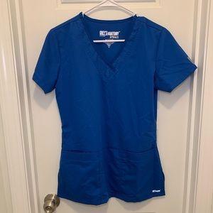 Grey's Anatomy Royal Blue Active Scrub Top